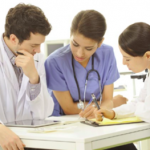 Medical students in the clinical environment